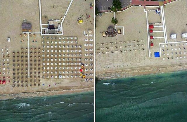 FOTO Plajele din Mamaia și Năvodari sunt monitorizare cu drona. Măsurile vor fi luate pe întreg litoralul
