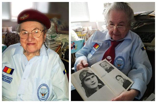 Florica Ioniță, prima femeie parașutist de după Al Doilea Război Mondial, împlinește 90 de ani