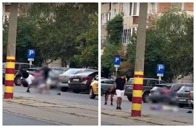 VIDEO Un taximetrist a fost bătut și lăsat lat în mijlocul străzii. Poliția îi caută pe agresori