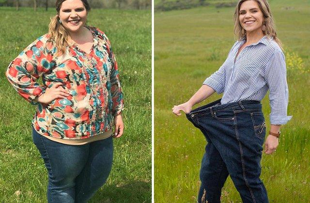 FOTO A slăbit 54 kilograme într-un an fără diete și fără să meargă la sală