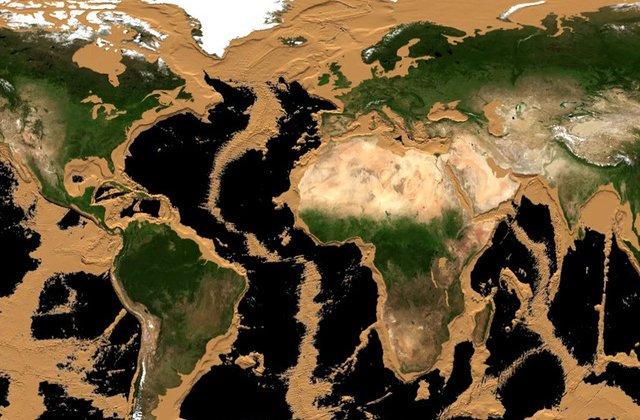 VIDEO Cum ar arăta Pământul dacă ar seca oceanele