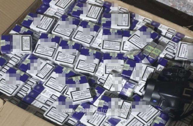 90.000 de pachete de țigări, confiscate de polițiștii din Vama Giurgiu