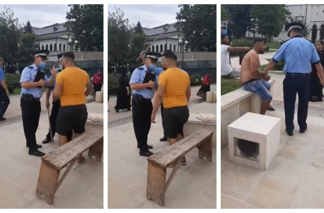 VIDEO Scandal la Mitropolia Moldovei. Mai mulți romi s-au luat la bătaie în fața credincioșilor