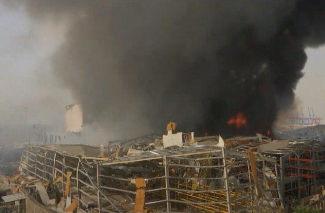 VIDEO Incendiu devastator în portul din Beirut la doar o lună de explozia care a curmat peste 190 de vieți omenești