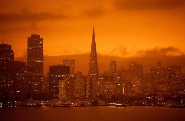 FOTO Imagini apocaliptice în San Francisco. Așa arată cerul din cauza incendiilor devastatoare