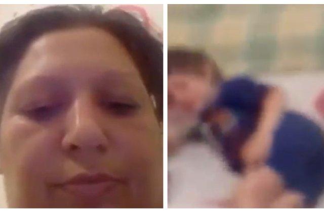 VIDEO Copilă de câțiva anișori, bătută cu bestialitate de mama ei pentru amuzamentul unui bărbat
