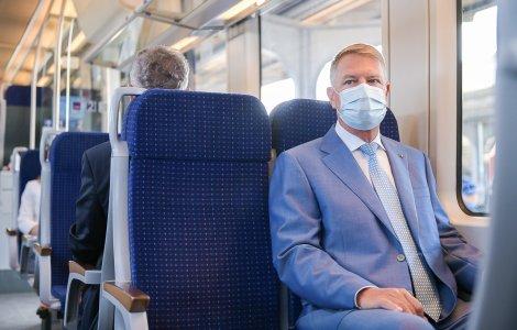 Iohannis a testat trenul care merge la Aeroportul Otopeni