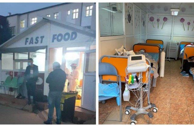 Spitalul de Urgență Sibiu primește bolnavii de Covid într-un chioșc de fast-food dezafectat