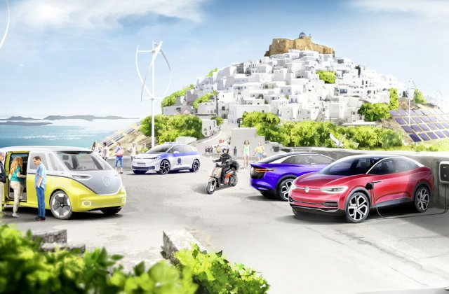 Experimentul Astypalea: Volkswagen va transforma o insulă grecească într-o zonă verde cu mașini electrice, panouri solare și energie eoliană pentru toți locuitorii