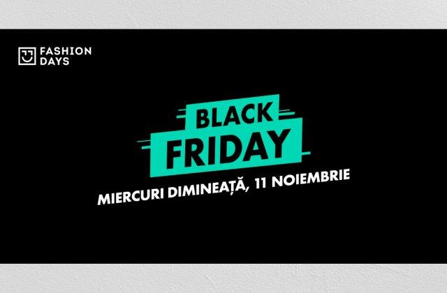 BLACK FRIDAY: ediția de bun simț de la Fashion Days începe miercuri dimineață, 11 noiembrie