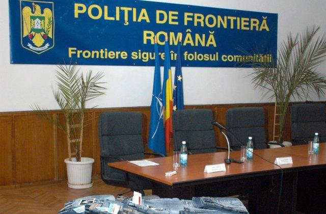 Aproape 14.000 de produse contrafăcute au fost descoperite de poliţiştii de frontieră la Zimnicea