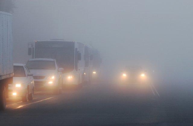 Cod galben de ceață în patru județe! Vizibilitatea se va reduce sub 200 de metri