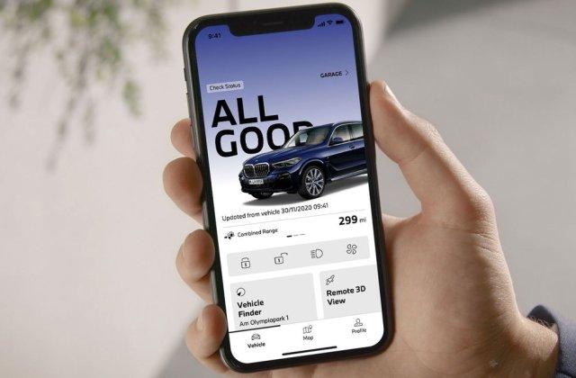 BMW lansează noua aplicație de smartphone My BMW: șoferii au acces prin telefon la 40 de funcții ale mașinii