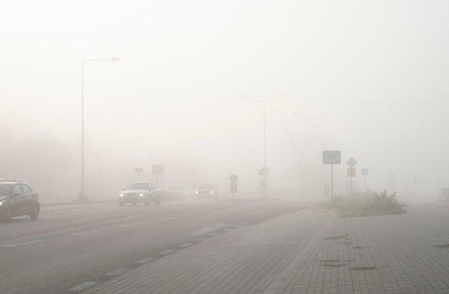 Cod Galben de ceață în mai multe județe din țară