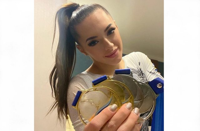 """Larisa Iordache, după câștigarea a 4 medalii la Europenele de gimnastică: """"Cu greu mai speram la o revenire"""""""