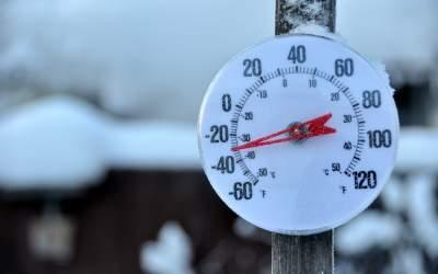Cea mai scăzută temperatură...