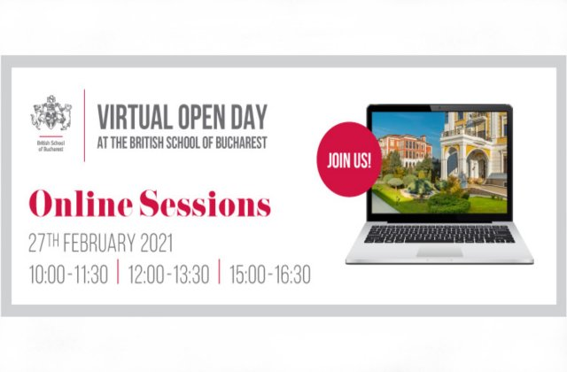 British School of Bucharest organizează Virtual Open Day, un eveniment dedicat părinților și elevilor