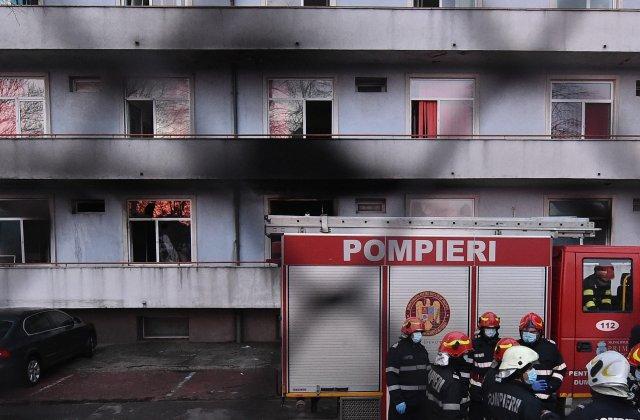"""Al 11-lea pacient a murit în urma incendiului de la """"Matei Balş"""""""