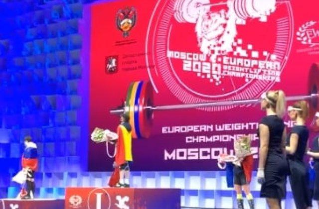 VIDEO Trei medalii de aur pentru Monica Csengeri, la Campionatele Europene de haltere de la Moscova