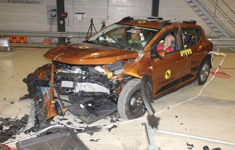 Dacia Sandero și Logan au primit 2 stele la testele EuroNCAP