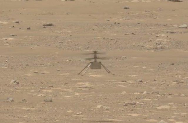 VIDEO Prima înregistrare audio a elicopterului Ingenuity ce a zburat pe Marte