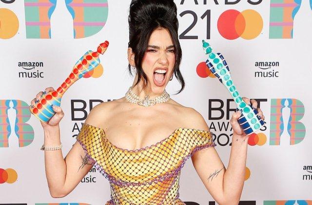Dua Lipa a fost desemnată câștigătoarea galei Brit Awards 2021