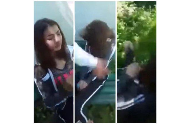 VIDEO Tânără din Târgu-Jiu, umilită și bătută cu palmele și picioarele de patru minore