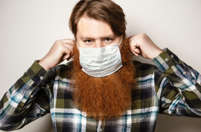 STUDIU: Bărbații cu barbă sunt mai predispuși să se infecteze cu COVID-19