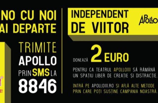 Independent de viitor: actorii Bogdan Dumitrache, István Téglás și Ioana Bugarin iau parte la o campanie de donații pentru Teatrul Apollo111