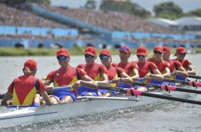 Echipajul feminin de 8+1 al Romaniei, argint la CM de canotaj