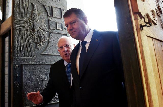 Relații bilaterale între România și Statul Israel. Klaus Iohannis îl va primi astăzi, la Cotroceni, pe liderul Reuven Rivlin