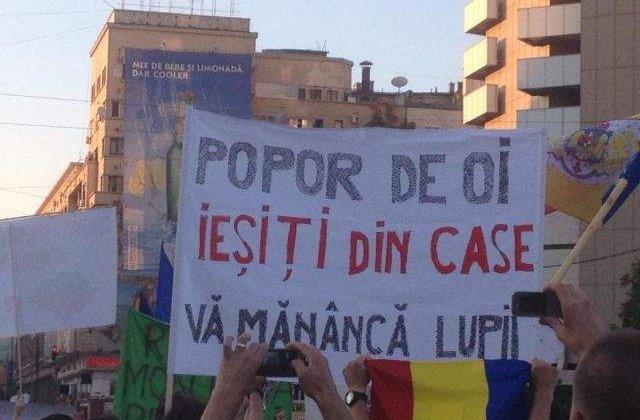 Protestele contra proiectului Rosia Montana au continuat si marti