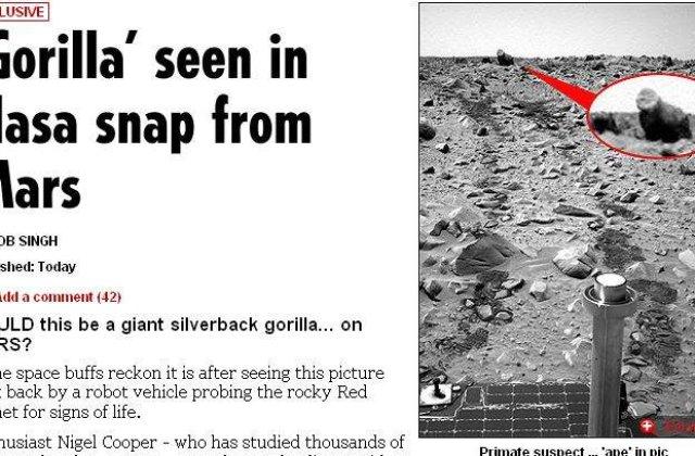NASA a pozat o gorila pe Marte