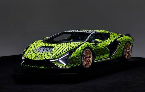Cea mai nouă machetă Lego este acest Lamborghini Sian în mărime...