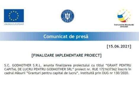 Comunicat de presa Finalizare...