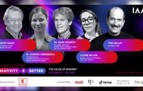 """Conferința globală IAA """"Creativity4Better"""" revine în 2021 cu cea..."""
