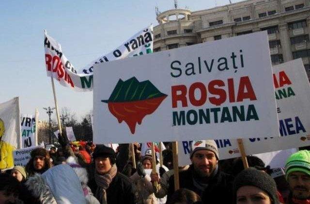 Campeni: Peste 2000 de oameni au protestat impotriva proiectului Rosia Montana