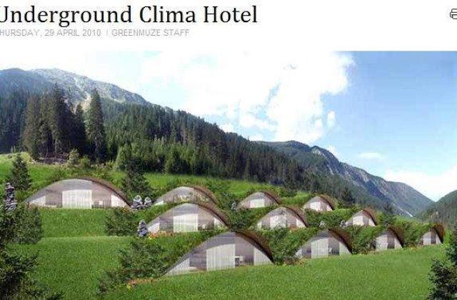 Hotel ingropat in pamant