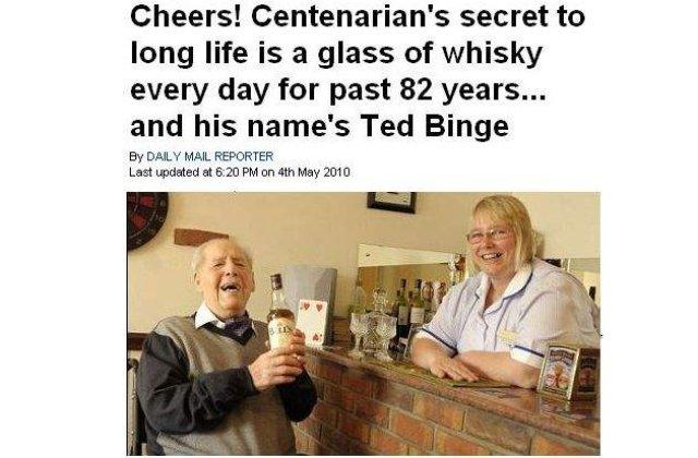 Vrei sa apuci 100 de ani? Bea whisky!