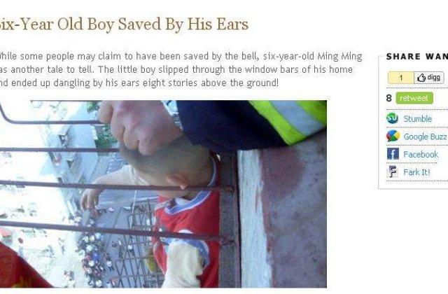 Baietel de 6 ani, salvat de propriile urechi