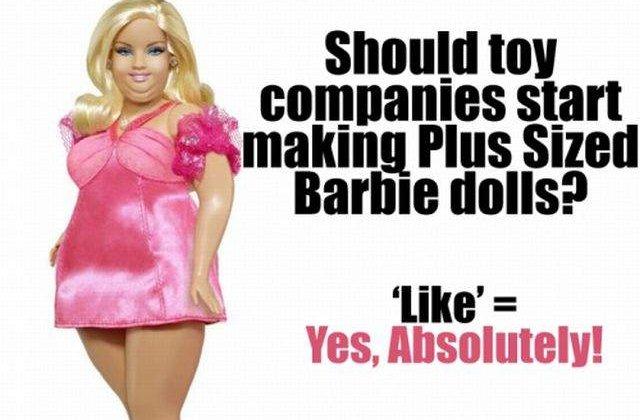 A sosit vremea pentru o Barbie grasa?