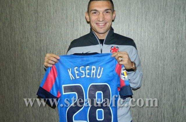 Keseru, prezentat oficial la Steaua: Am ajuns la un club mare
