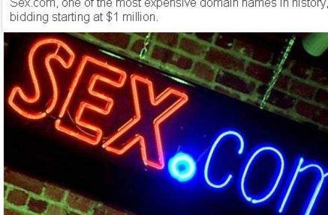 "Domeniul ""Sex.com"", de vanzare"