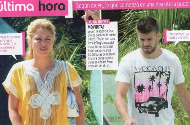 Shakira si-a insalat iubitul cu un fotbalist?