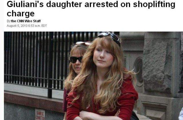 Fiica fostului primar newyorkez, hoata de cosmetice