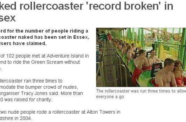 Goi in rollercoaster, pentru o cauza nobila