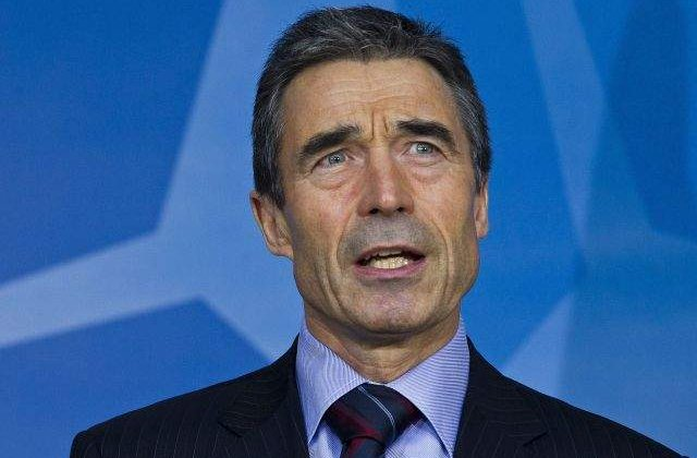 Secretarul general al NATO, Anders Fogh Rasmussen, vizita in Romania