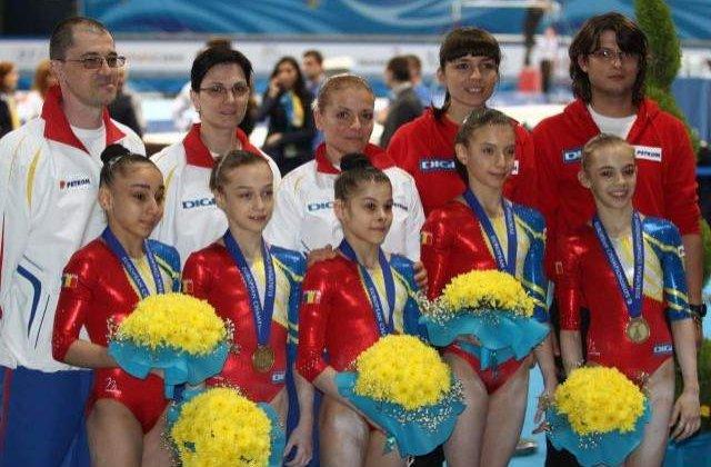 Echipa de gimnastica junioare a Romaniei, medalie de bronz la CE de la Sofia
