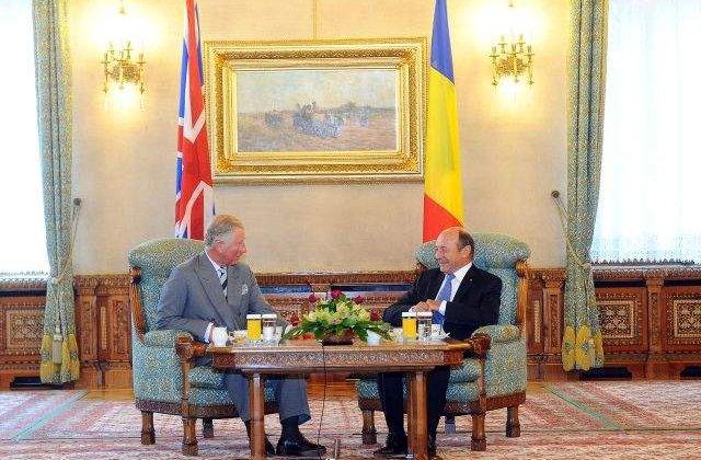 Traian Basescu, intalnire cu Printul Charles, la Palatul Cotroceni
