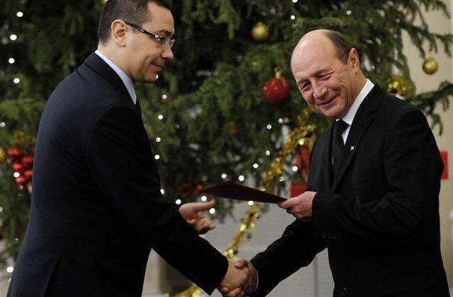 Ponta: Ii urez lui Basescu sa se bucure ca vom avea in sfarsit un presedinte